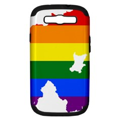 Lgbt Flag Map Of Northern Ireland Samsung Galaxy S Iii Hardshell Case (pc+silicone)