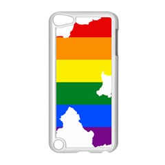 Lgbt Flag Map Of Northern Ireland Apple Ipod Touch 5 Case (white) by abbeyz71