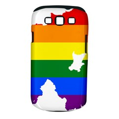 Lgbt Flag Map Of Northern Ireland Samsung Galaxy S Iii Classic Hardshell Case (pc+silicone)