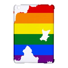 Lgbt Flag Map Of Northern Ireland Apple Ipad Mini Hardshell Case (compatible With Smart Cover) by abbeyz71