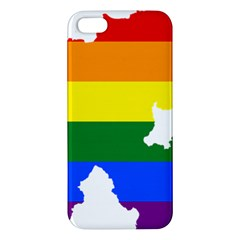 Lgbt Flag Map Of Northern Ireland Apple Iphone 5 Premium Hardshell Case