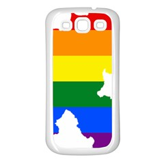 Lgbt Flag Map Of Northern Ireland Samsung Galaxy S3 Back Case (white)