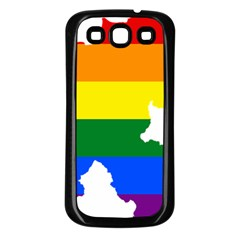 Lgbt Flag Map Of Northern Ireland Samsung Galaxy S3 Back Case (black)