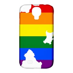 Lgbt Flag Map Of Northern Ireland Samsung Galaxy S4 Classic Hardshell Case (pc+silicone)