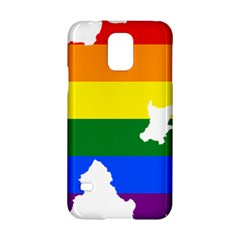 Lgbt Flag Map Of Northern Ireland Samsung Galaxy S5 Hardshell Case
