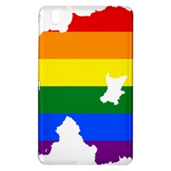 Lgbt Flag Map Of Northern Ireland Samsung Galaxy Tab Pro 8 4 Hardshell Case