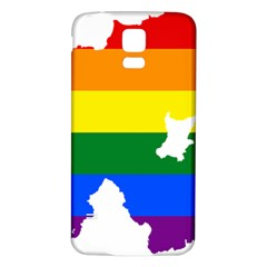 Lgbt Flag Map Of Northern Ireland Samsung Galaxy S5 Back Case (white)
