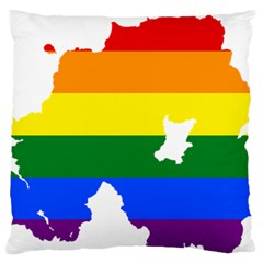 Lgbt Flag Map Of Northern Ireland Standard Flano Cushion Case (one Side)