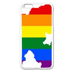 Lgbt Flag Map Of Northern Ireland Apple Iphone 6 Plus/6s Plus Enamel White Case