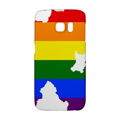 Lgbt Flag Map Of Northern Ireland Samsung Galaxy S6 Edge Hardshell Case