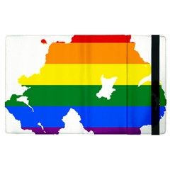 Lgbt Flag Map Of Northern Ireland Apple Ipad Pro 12 9   Flip Case
