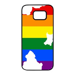 Lgbt Flag Map Of Northern Ireland Samsung Galaxy S7 Edge Black Seamless Case