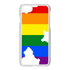 Lgbt Flag Map Of Northern Ireland Apple Iphone 7 Seamless Case (white)