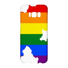 Lgbt Flag Map Of Northern Ireland Samsung Galaxy S8 Hardshell Case