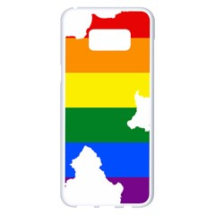 Lgbt Flag Map Of Northern Ireland Samsung Galaxy S8 Plus White Seamless Case