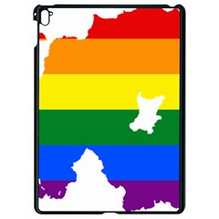 Lgbt Flag Map Of Northern Ireland Apple Ipad Pro 9 7   Black Seamless Case