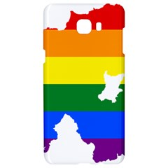 Lgbt Flag Map Of Northern Ireland Samsung C9 Pro Hardshell Case