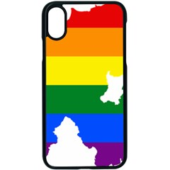 Lgbt Flag Map Of Northern Ireland Apple Iphone X Seamless Case (black)
