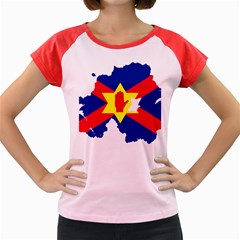 Ulster Nationalists Flag Map Of Northern Ireland Women s Cap Sleeve T Shirt
