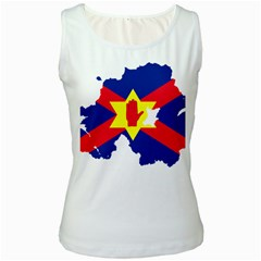 Ulster Nationalists Flag Map Of Northern Ireland Women s White Tank Top
