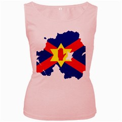 Ulster Nationalists Flag Map Of Northern Ireland Women s Pink Tank Top