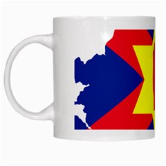 Ulster Nationalists Flag Map Of Northern Ireland White Mugs