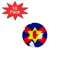 Ulster Nationalists Flag Map Of Northern Ireland 1  Mini Buttons (10 Pack)