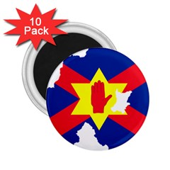 Ulster Nationalists Flag Map Of Northern Ireland 2 25  Magnets (10 Pack)