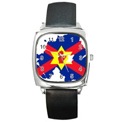 Ulster Nationalists Flag Map Of Northern Ireland Square Metal Watch