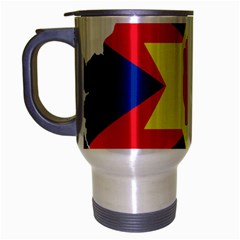 Ulster Nationalists Flag Map Of Northern Ireland Travel Mug (silver Gray)