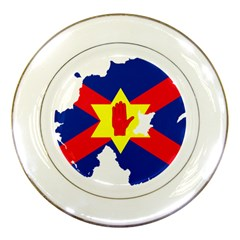Ulster Nationalists Flag Map Of Northern Ireland Porcelain Plates