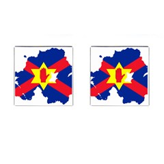 Ulster Nationalists Flag Map Of Northern Ireland Cufflinks (square)