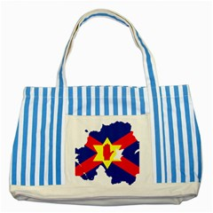 Ulster Nationalists Flag Map Of Northern Ireland Striped Blue Tote Bag