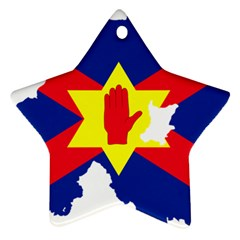 Ulster Nationalists Flag Map Of Northern Ireland Star Ornament (two Sides)