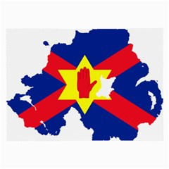 Ulster Nationalists Flag Map Of Northern Ireland Large Glasses Cloth