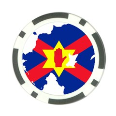 Ulster Nationalists Flag Map Of Northern Ireland Poker Chip Card Guard (10 Pack)