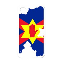 Ulster Nationalists Flag Map Of Northern Ireland Apple Iphone 4 Case (white)