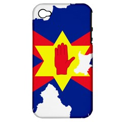 Ulster Nationalists Flag Map Of Northern Ireland Apple Iphone 4/4s Hardshell Case (pc+silicone)