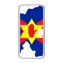 Ulster Nationalists Flag Map Of Northern Ireland Apple Iphone 5c Seamless Case (white)