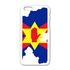 Ulster Nationalists Flag Map Of Northern Ireland Apple Iphone 6/6s White Enamel Case