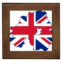 Union Jack Flag Map Of Northern Ireland Framed Tiles