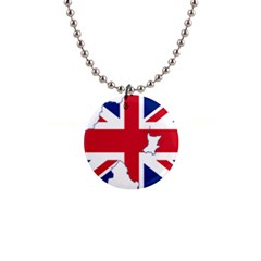 Union Jack Flag Map Of Northern Ireland Button Necklaces