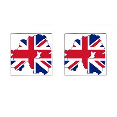 Union Jack Flag Map Of Northern Ireland Cufflinks (square) by abbeyz71