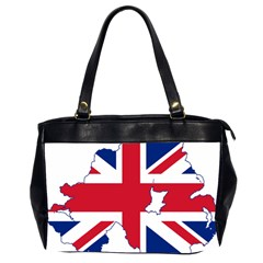 Union Jack Flag Map Of Northern Ireland Oversize Office Handbag (2 Sides) by abbeyz71
