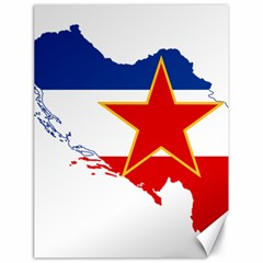 Flag Map Of Socialist Federal Republic Of Yugoslavia Canvas 18  X 24  by abbeyz71