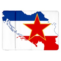 Flag Map Of Socialist Federal Republic Of Yugoslavia Samsung Galaxy Tab 8 9  P7300 Flip Case by abbeyz71