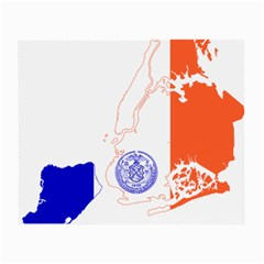 Flag Map Of New York City Small Glasses Cloth by abbeyz71