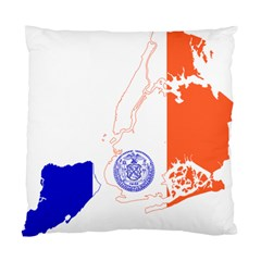 Flag Map Of New York City Standard Cushion Case (one Side) by abbeyz71