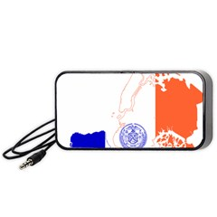 Flag Map Of New York City Portable Speaker by abbeyz71