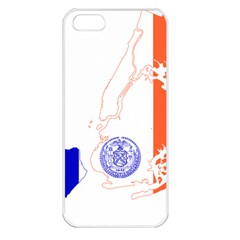Flag Map Of New York City Apple Iphone 5 Seamless Case (white) by abbeyz71